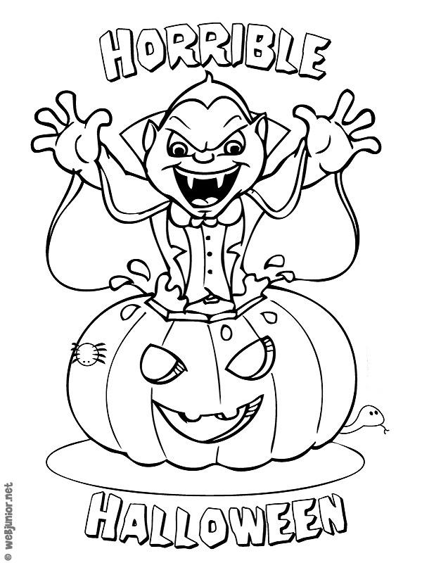 coloriage à dessiner de vampire fille a imprimer