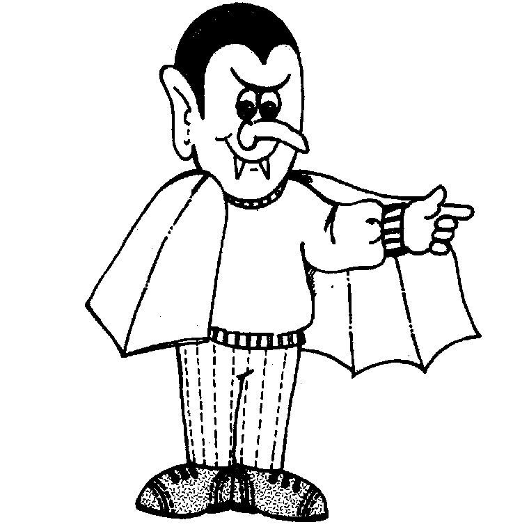 dessin à colorier vampire à imprimer gratuit