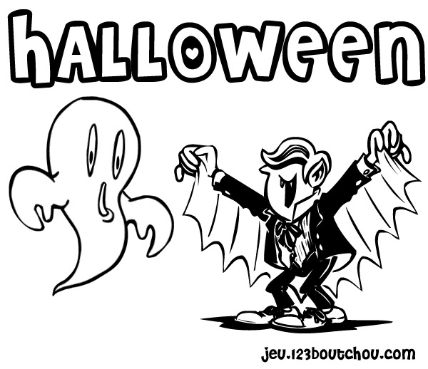 Coloriage dessiner de vampire qui font peur - Dessin qui font peur ...