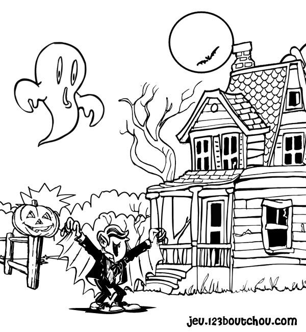 coloriage à dessiner manga vampire