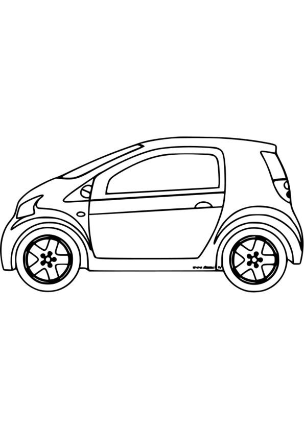 157 dessins de coloriage v hicule imprimer - Dessin voiture profil ...