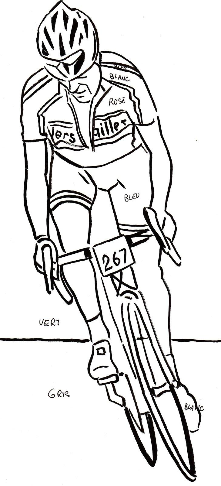 95 dessins de coloriage velo a imprimer imprimer - Coloriage de cycliste ...