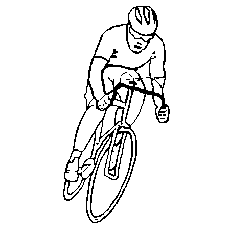 95 dessins de coloriage velo a imprimer imprimer - Dessin cycliste ...