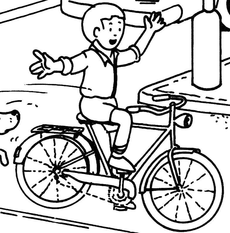 coloriage à dessiner numéroté vélo
