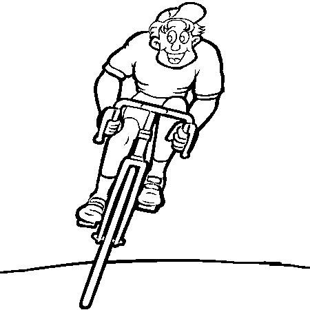 Coloriage dessiner imprimer velo course - Cycliste dessin ...