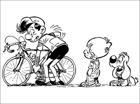 coloriage à dessiner un vélo