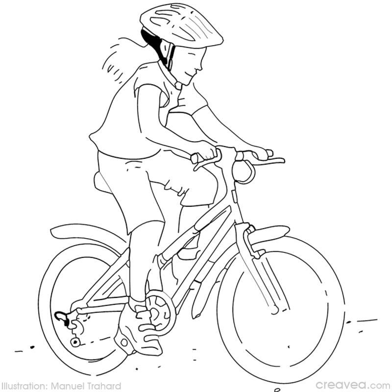 coloriage velo fille