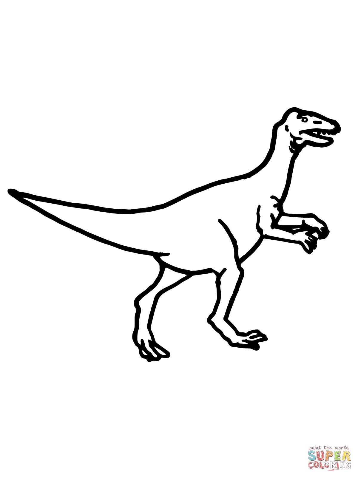 94 dessins de coloriage velociraptor dinosaure  u00e0 imprimer