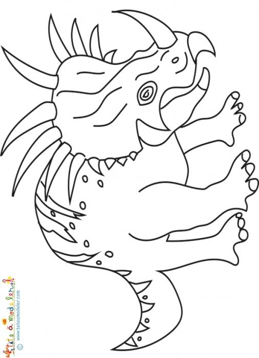 93 dessins de coloriage velociraptor imprimer - Dessin de tyrannosaure ...