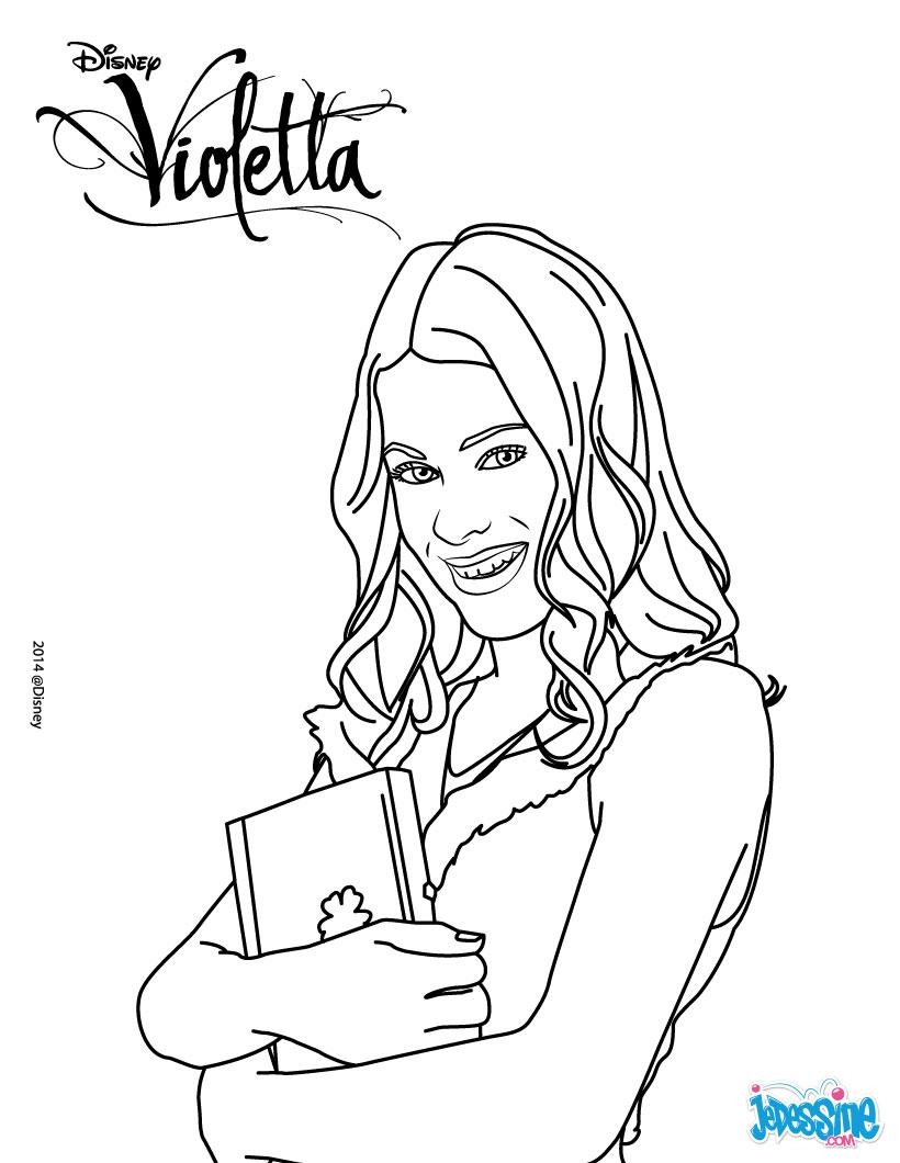 Coloriage A Imprimer Violetta Sur Disney Channel Imagui
