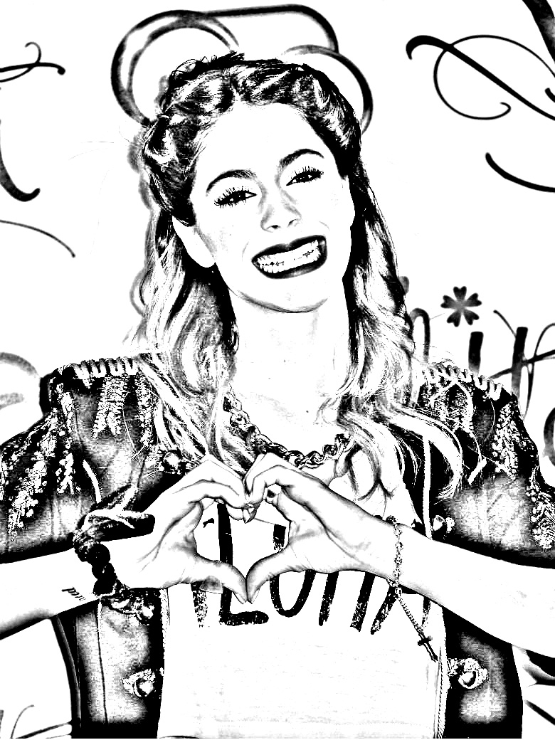 18 dessins de coloriage Violetta
