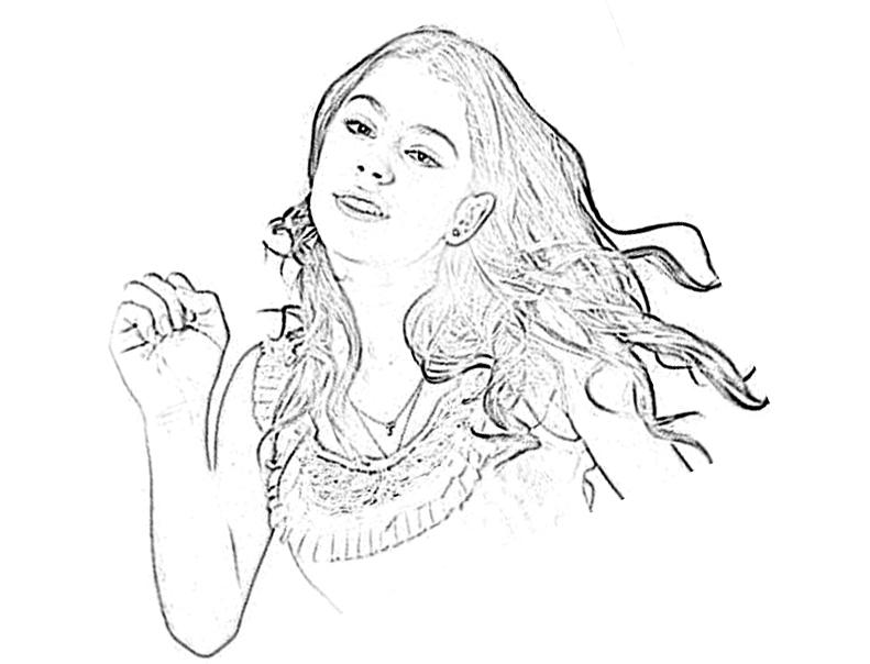 coloriage à dessiner de violetta saison 2
