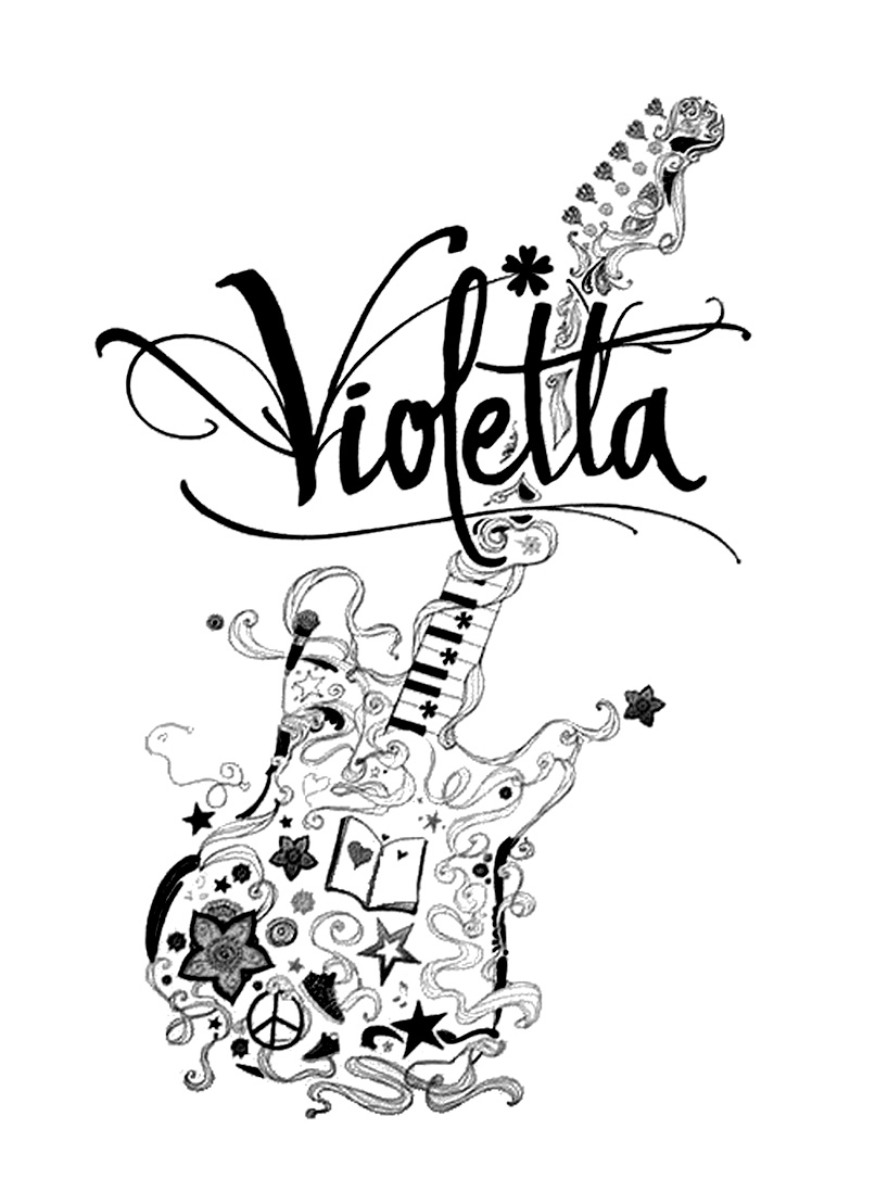 dessin violetta disney channel