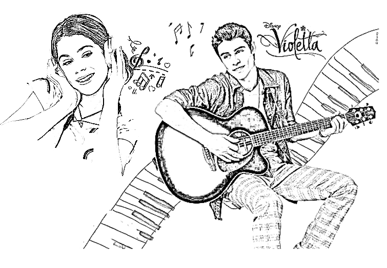 dessin � colorier.tv violetta