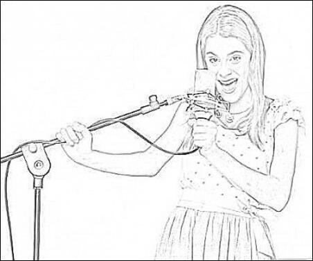 dessin violetta 2 en ligne
