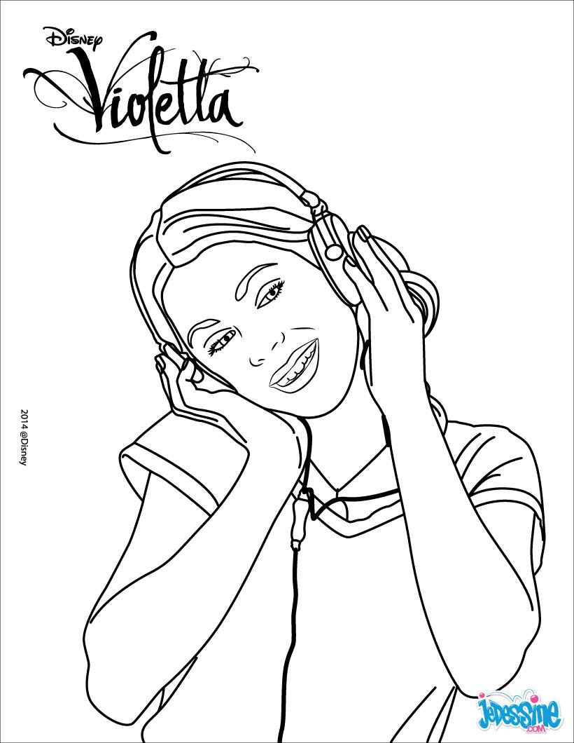 dessin violetta 2 a imprimer