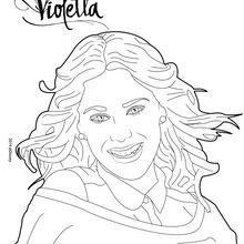 dessin à colorier disney channel violetta a imprimer