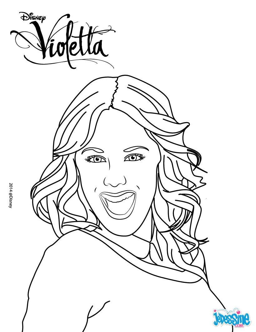 dessin à colorier de violetta et ludmila