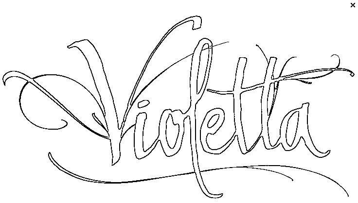 dessin à colorier violetta a imprimer en noir et blanc