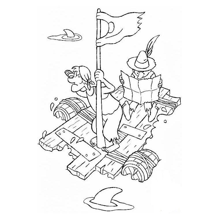 dessin à colorier de voilier a imprimer