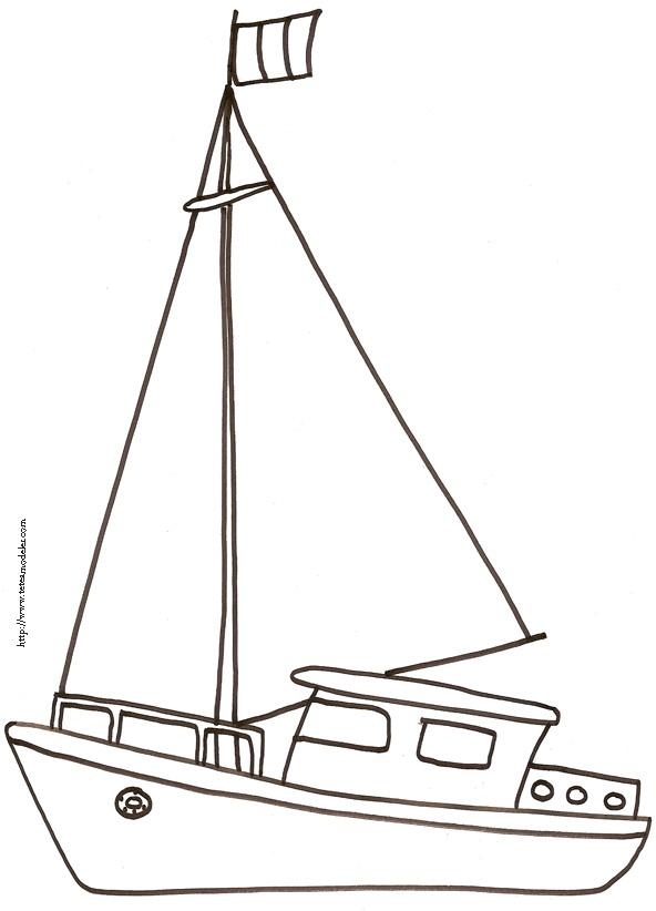 coloriage bateaux voiliers