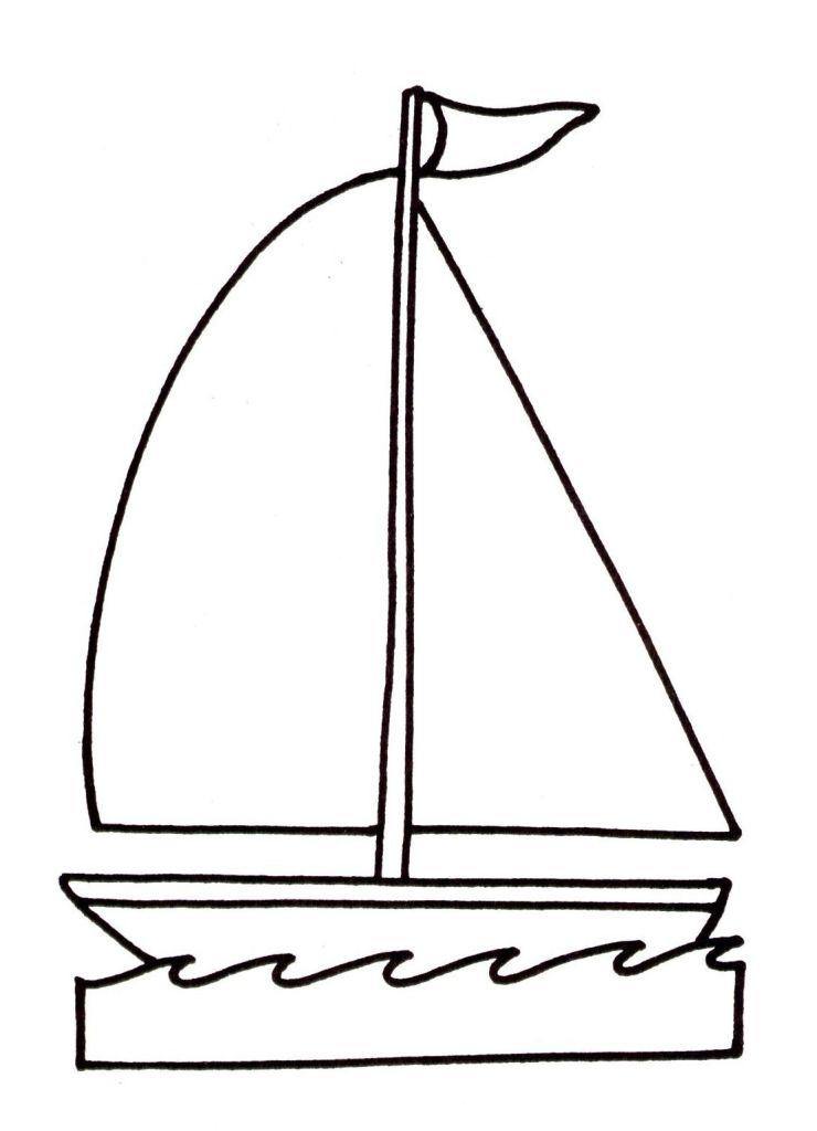 114 dessins de coloriage voilier imprimer - Dessin petit bateau ...