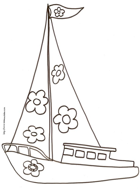 coloriage à dessiner voilier gratuit