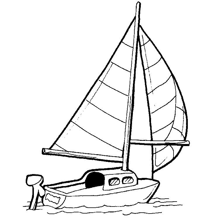 dessin de voilier a imprimer