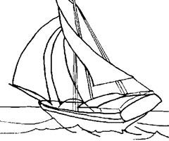 dessin à colorier voilier imprimer