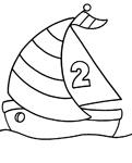 dessin petit voilier