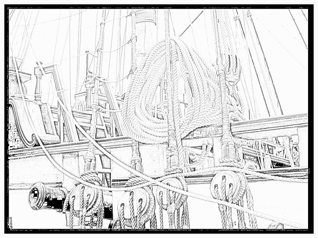 coloriage à dessiner voiliers