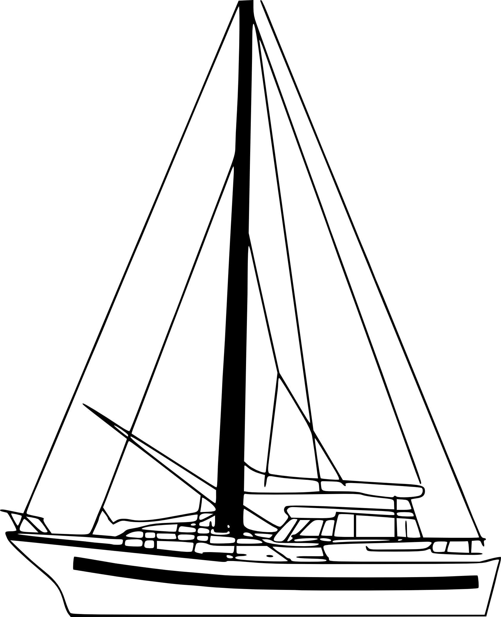 dessin voilier imprimer