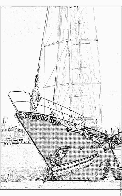 colorier un voilier