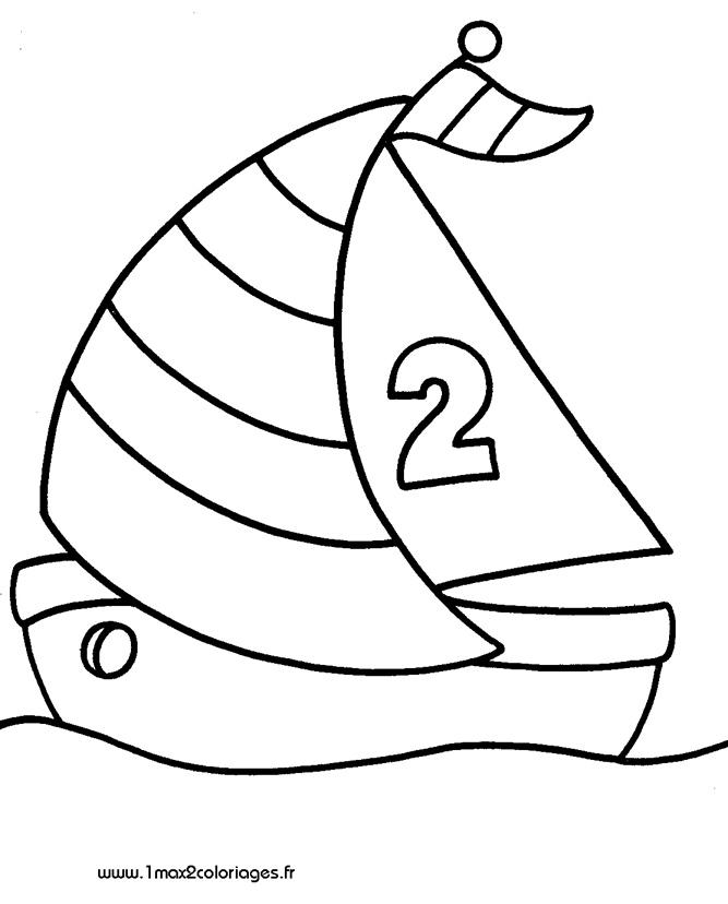 dessin à colorier à imprimer voilier