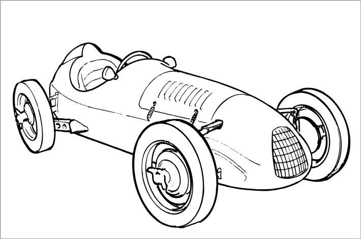 coloriage voiture de course formule 1