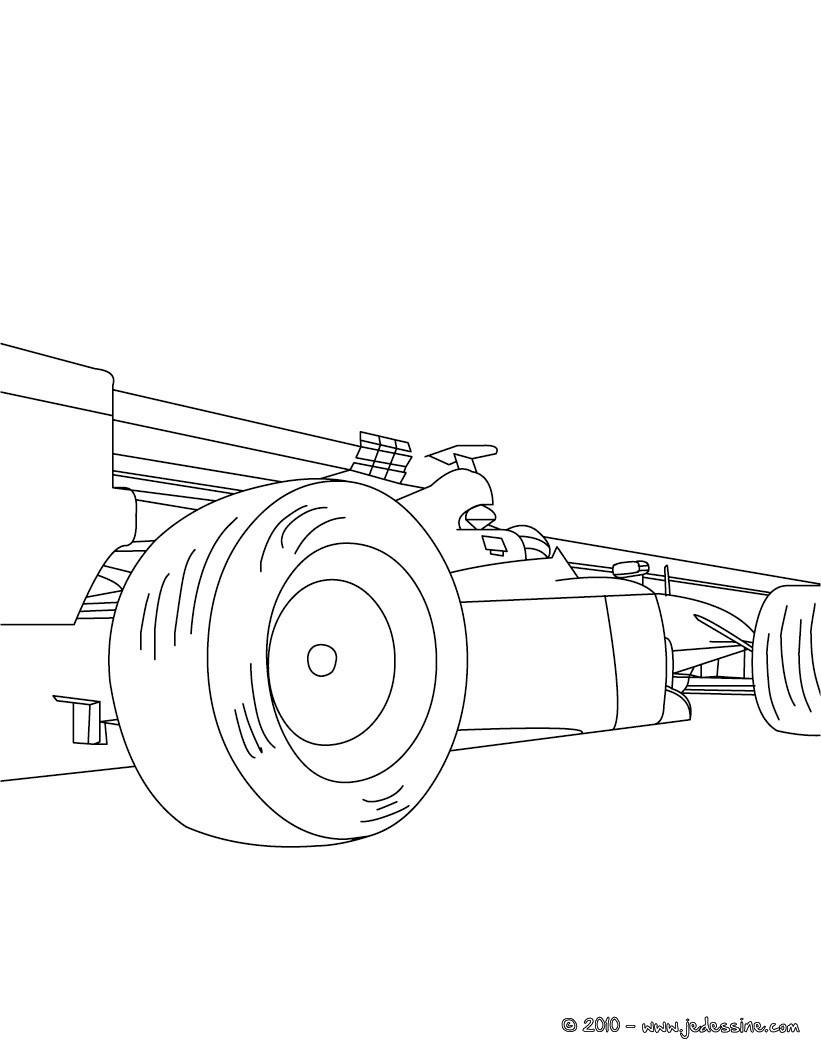 dessin de voiture de course en ligne