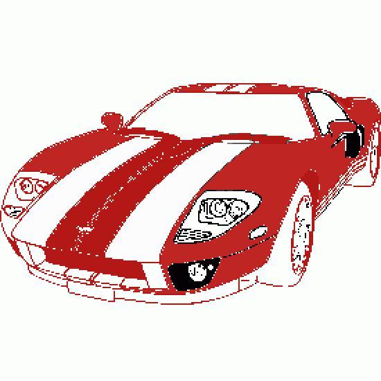 voiture de course pour colorier