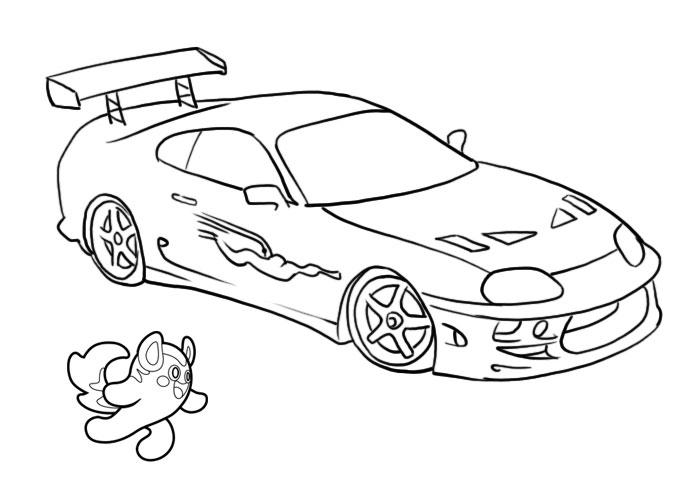 dessin de voiture de tuning