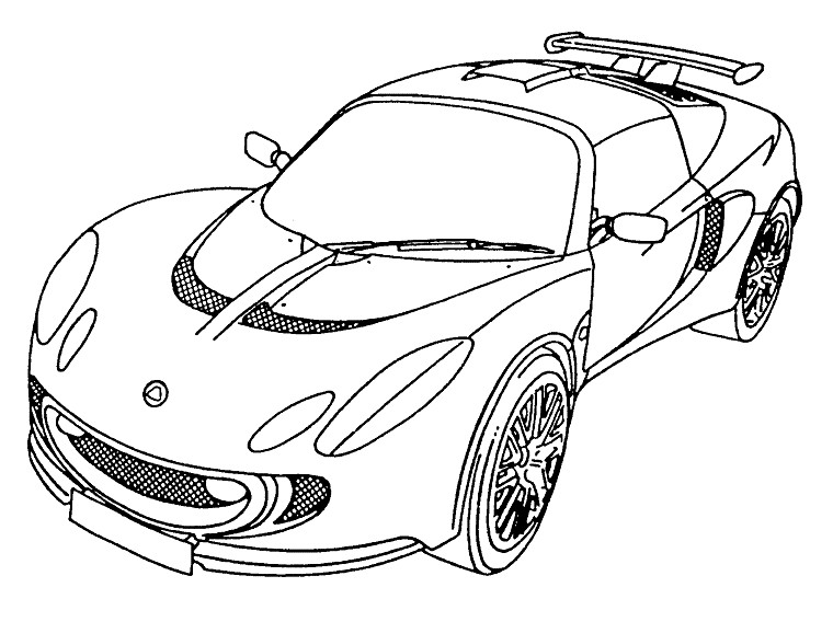 17 dessins de coloriage voiture tuning imprimer for Plans de dessins de porche