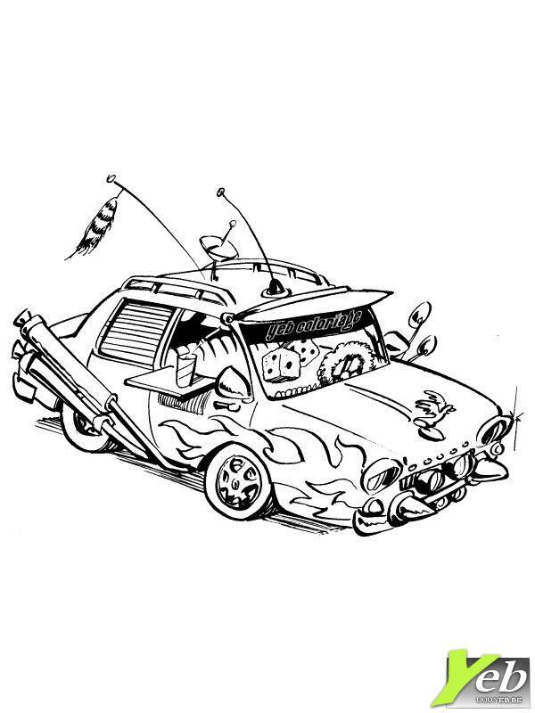coloriage voiture tuning gratuit
