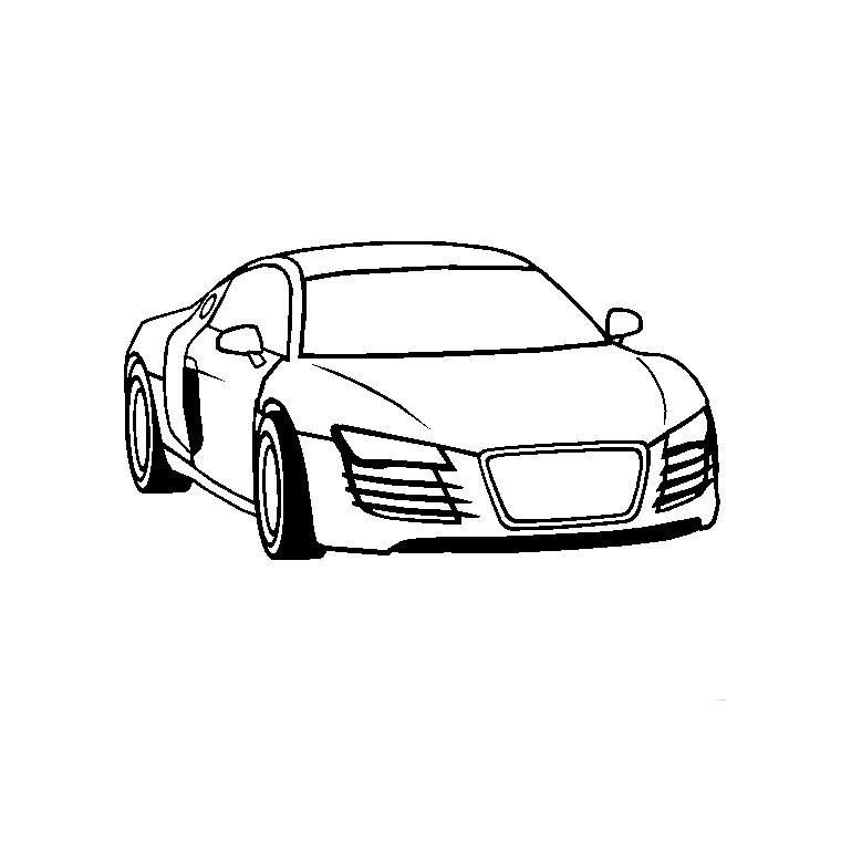 dessin à colorier voiture 4 ans