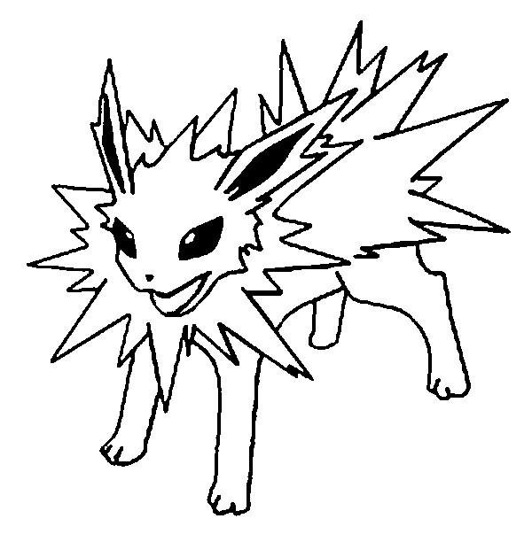 16 dessins de coloriage voltali pokemon  u00e0 imprimer