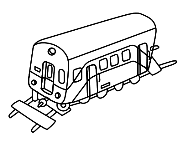 coloriage wagon de train
