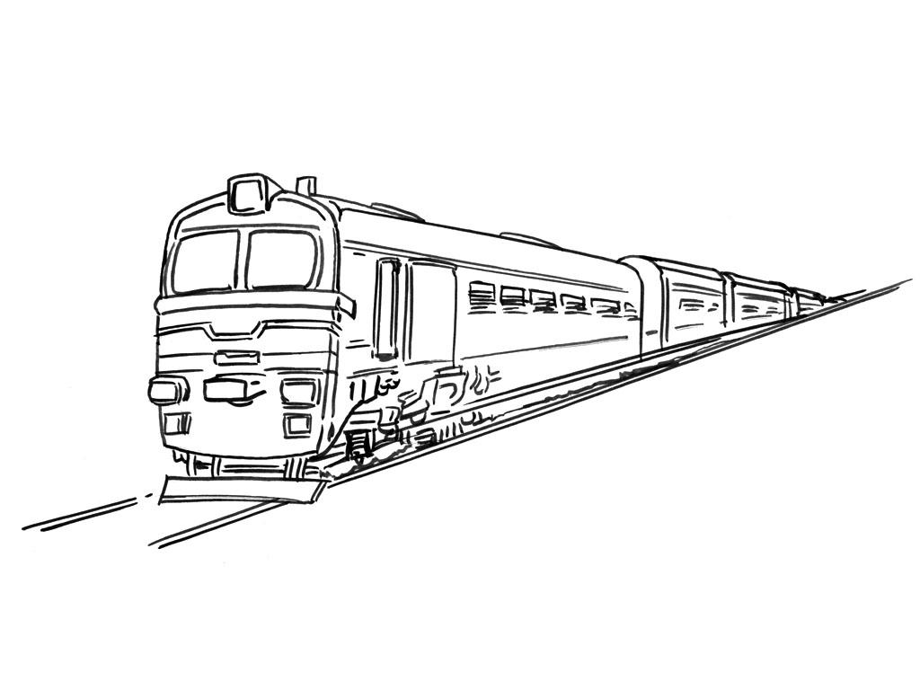 coloriage train wagon imprimer