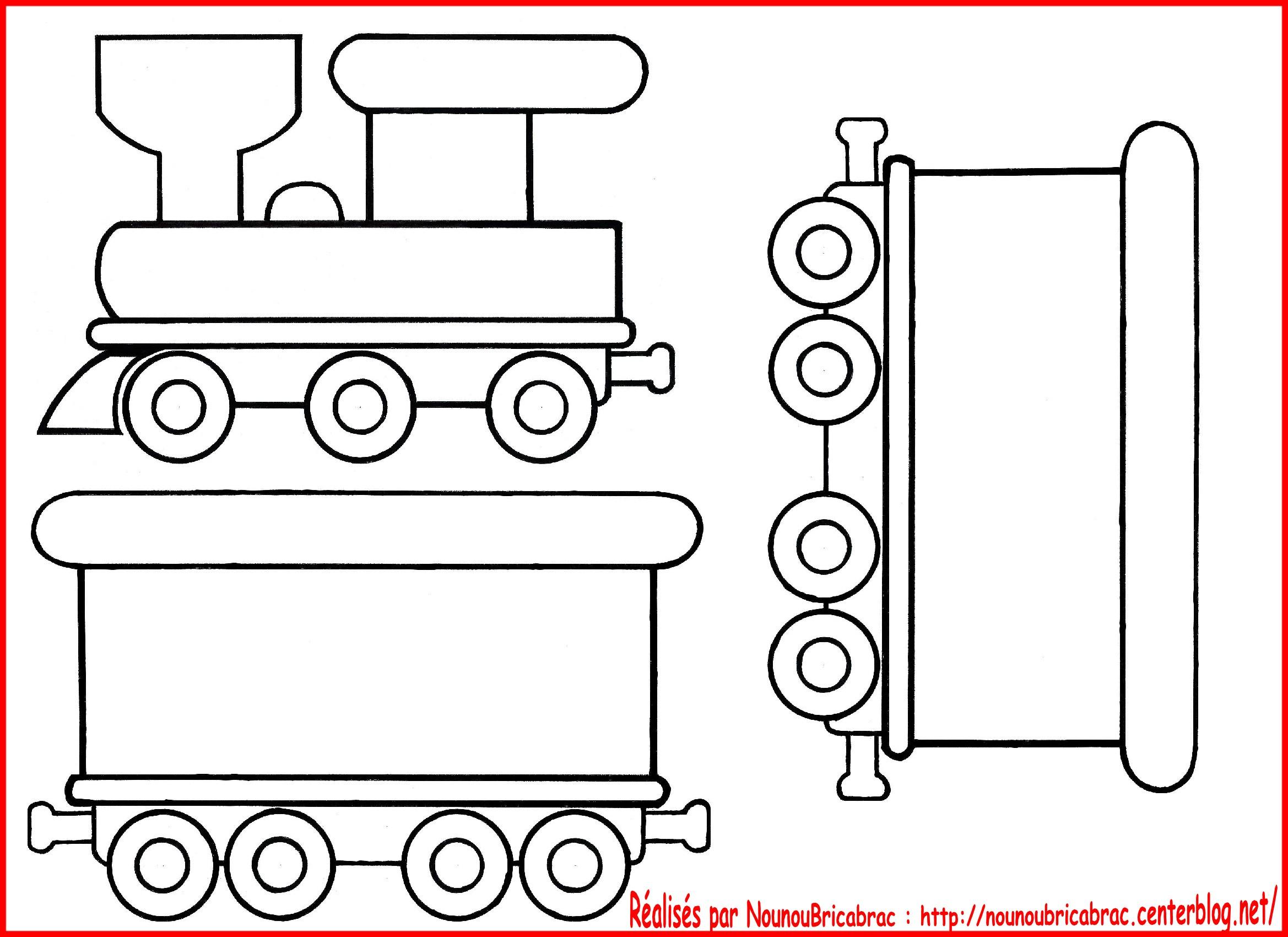 Coloriage wagon de train - Comment dessiner un train ...