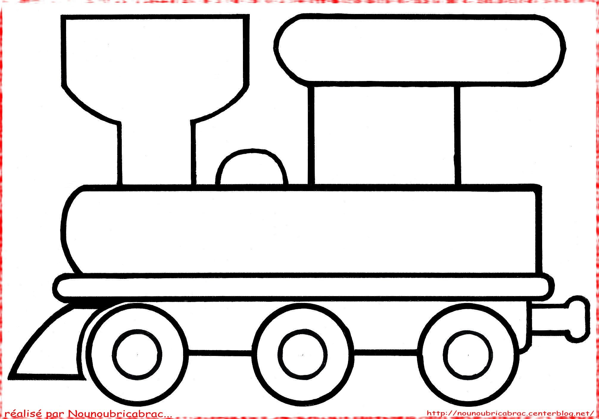 Coloriage locomotive et wagons - Locomotive dessin ...