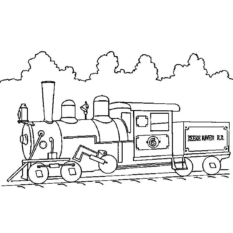 coloriage à dessiner wagon gratuit