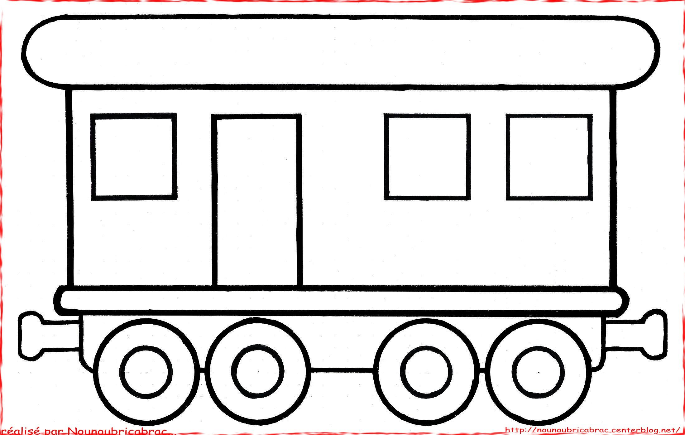 coloriage de wagon a imprimer