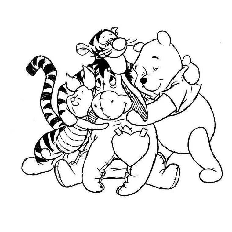 20 dessins de coloriage winnie l ourson imprimer - Winnie l ourson a colorier ...