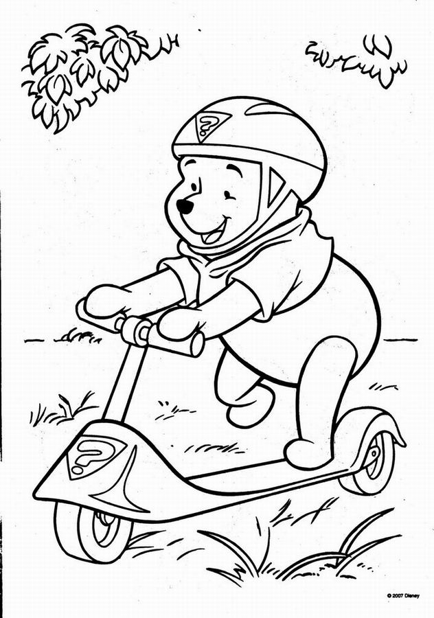 coloriage winnie l'ourson alphabet